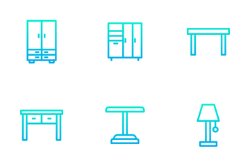 Furniture - Outline Gradient Icon Pack