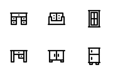 Furniture Set Icon Pack