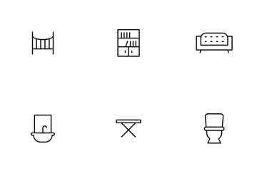 Furniture Thinline Icon Pack