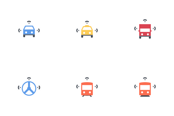 Future Of Transportation - Smart Transport Icon Pack