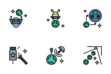 Future Technology Filled Outline Icon Pack