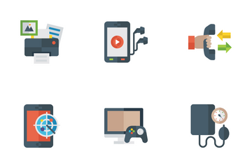Gadget And Devices Flat Icons Icon Pack