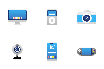 Gadget Flat Color Icon Pack