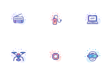 Gadget Gradient - Efficiency Tools Icon Pack