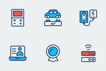 Gadgets Color Line Icons    Icon Pack