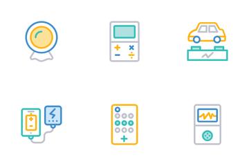 Gadgets Color Line Orange Icons    Icon Pack