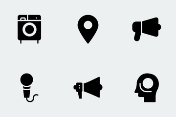 Gadgets Glyphs Icons Icon Pack