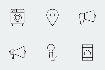 Gadgets Line Icons Icon Pack