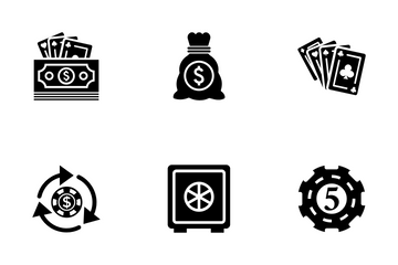 Gambling Solid Icons Icon Pack