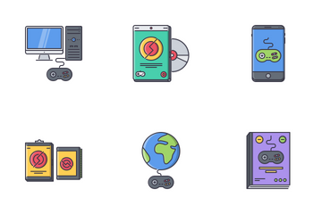 Game Filled Outline Icon Pack