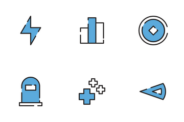 Game Filled Outline Icon Icon Pack