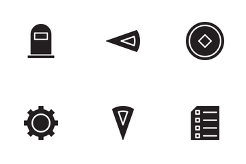 Game Glyph Icon Icon Pack