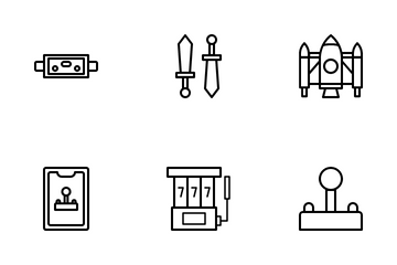 Games Outline Icon Pack Icon Pack