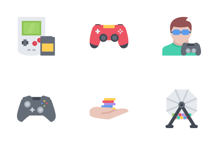 Games Outline Icon Pack