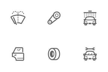 Garage & Auto Part Icon Pack