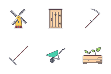 Garden Filled Outline Icon Pack