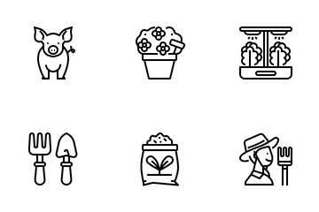 Gardening And Farming Icon Pack
