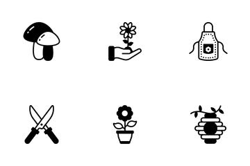 Gardening Seeding Icon Pack