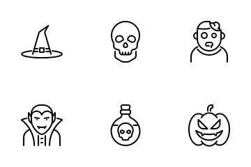 Garis Halloween Icon Pack
