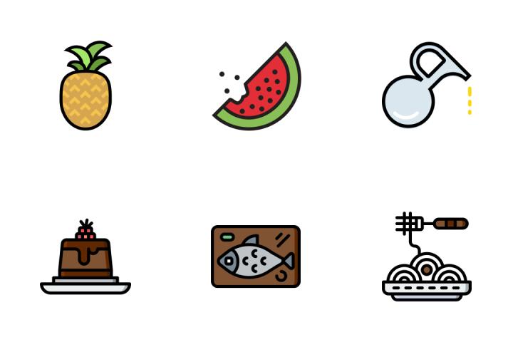 Gastronomy 6 - Retro Icon Pack