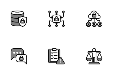 GDPR Chromatic - General Data Protection Regulation Icon Pack