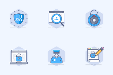 GDPR (Data Privacy Policy) Icon Pack