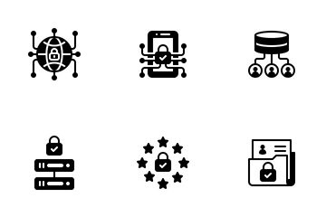GDPR Glyph - General Data Protection Regulation Icon Pack