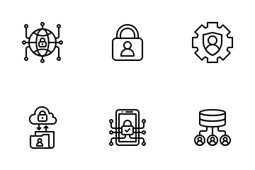 GDPR LineArt - General Data Protection Regulation Icon Pack