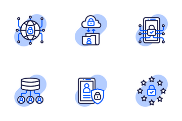 GDPR Shape Colors - General Data Protection Regulation Icon Pack