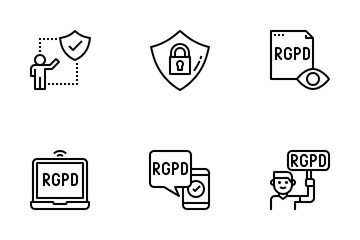 General Data Protection Regulation (GDPR) Icon Pack