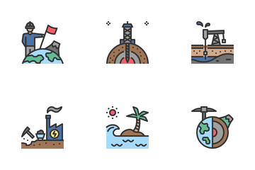 Geological Exploration Icon Pack