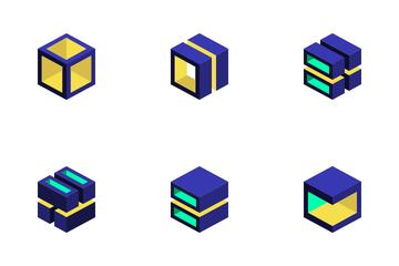 Geometric Cube Icon Pack