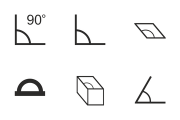 Geometry Angles Icon Pack