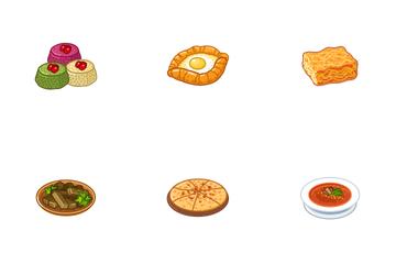 Georgian Cuisine Icon Pack