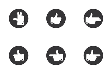 Gesture Stroke Circle Icon Pack