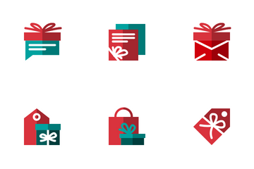 Gift Box Flat Icon Pack