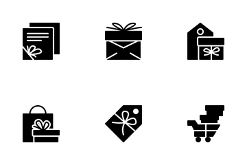 Gift Box Solid Icon Pack