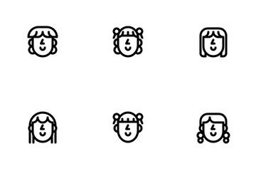 Girl Hairstyle Icon Pack