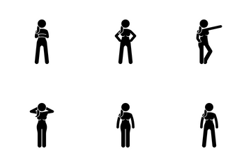Girl Poses Icon Pack