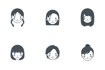 Girls Expression Icon Pack