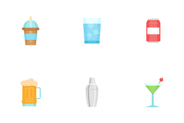 Glass And Beverage Icon Pack