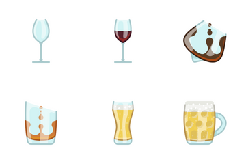 Glasses & Drinks Icon Pack