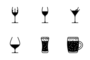 Glasses & Drinks (glyph) Icon Pack
