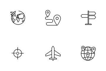 Global, Earth, Navigation, Location Icon Pack