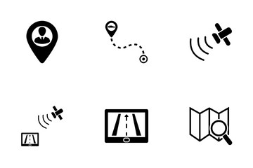 Global Navigation And Position Icon Pack