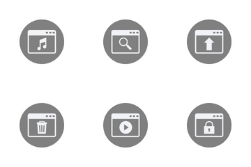 Glyph Circle Icon Pack