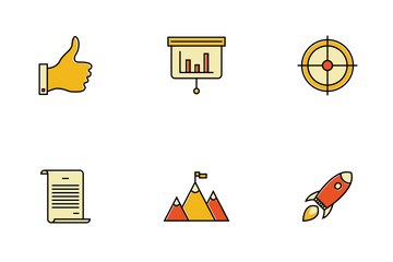 Goal Startup Business Solution Icon Pack
