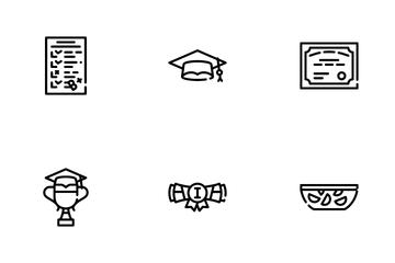 Graduation Education Icon Pack