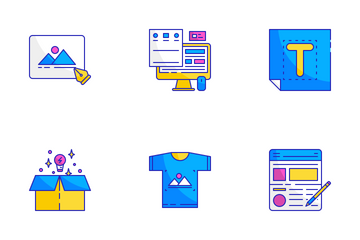 Graphic Design Icon Set Icon Pack