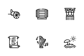 Greece Country History Icon Pack